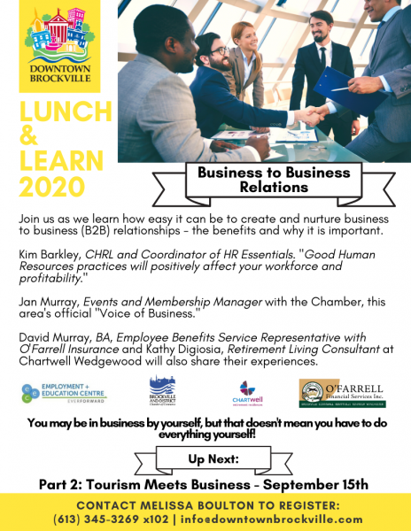CANCELLED - Lunch & Learn with DBIA - Business to Business Relations