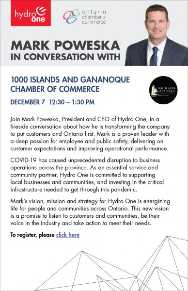 Join Mark Poweska, President and CEO of Hydro One, in a fireside conversation about how he is transforming the company to put customers and Ontario first.